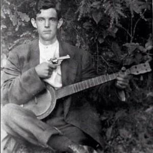 banjo and gun